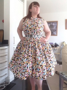 Steff in her Allsorts Dress
